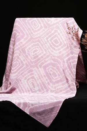 雙縐長巾 年輪 桑葚染 尺寸:55×200cm